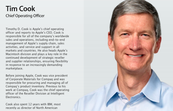 Appleの新CEO、Tim Cook(ティム・クック)とはどんな人物か?