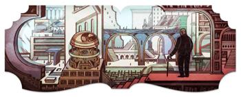 Googleロゴ「ホルヘ ルイス ボルヘス」に