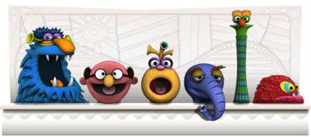 Googleロゴ「ジム ヘンソン(Jim Henson)」に