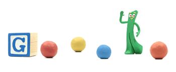 Googleロゴ「ガンビー(Gumby)」に