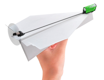 紙ひこうきを電化する電動プロペラキット「ダ・ヴィンチ」