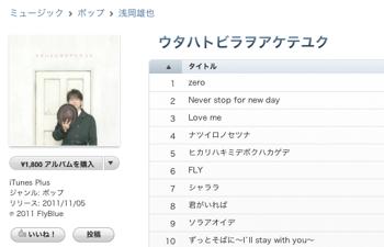 浅岡雄也「ウタハトビラヲアケテユク」iTunes Storeで配信開始