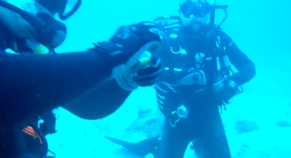 水深30mの海底で生卵を割るとどなるか?【動画】