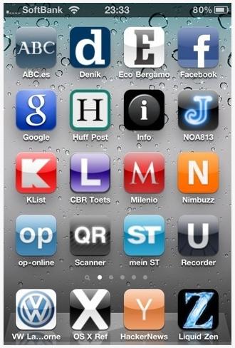 iPhoneアプリのアイコンでホーム画面をA〜Zで埋めちゃった人がいた