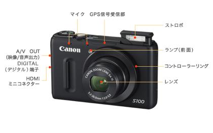 「PowerShot S100」DIGIC 5/F2.0レンズ/光学5倍/GPS