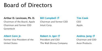 Apple、アーサー D. レビンソンを取締役会長に指名