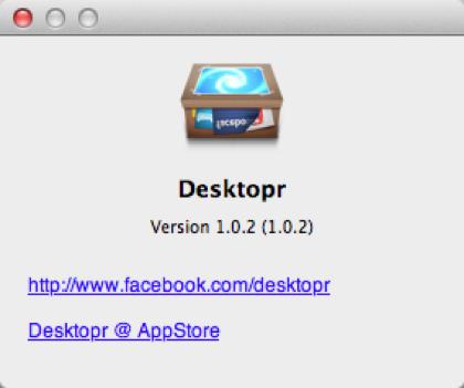 「Desktopr」Macのデスクトップにウェブコンテンツを貼り付けることができるソフト