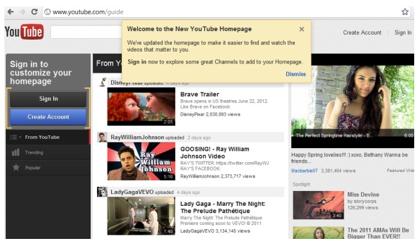 YouTubeの新しいサイトデザインを試す方法