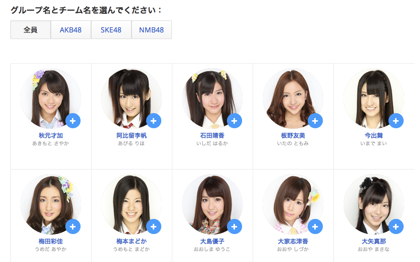 [Google+]AKB48/SKE48/NMB48のメンバーをまとめてサークルに追加する方法