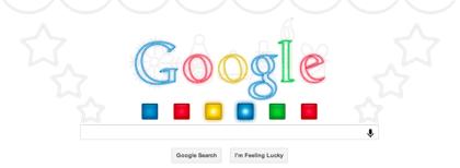 Googleロゴ、クリスマスバージョン(ホリデーシーズン)に