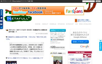 【2011年版】ネタフルのアクセス解析(年間1,422万PV)