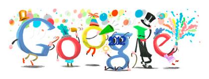 Googleロゴ「大晦日」に