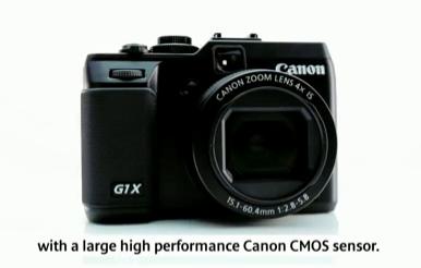 キヤノン、CMOS搭載のコンデジ「PowerShot G1 X」発表