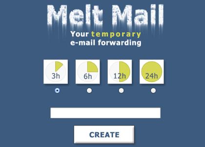 一定期間で消滅する転送メールアドレスを無料で取得できる「Melt Mail」