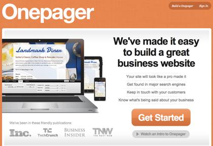 プロが作ったようなビジネスサイトを手軽に作成できる「Onepager」