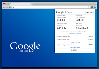 Google AdSenseの収益が見られるGoogle Chrome機能拡張「AdSense Publisher Toolbar」