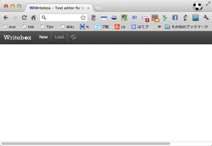 Dropboxと同期するGoogle Chrome用テキストエディタアプリ「Writebox」