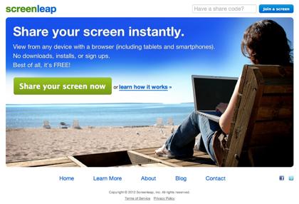 「ScreenLeap」ビューワーはHTMLとJavaScriptしか使わない画面共有サービス