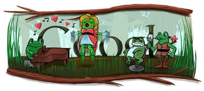 Googleロゴ「ジョアキーノ ロッシーニ」に