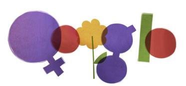 Googleロゴ「国際女性デー」に