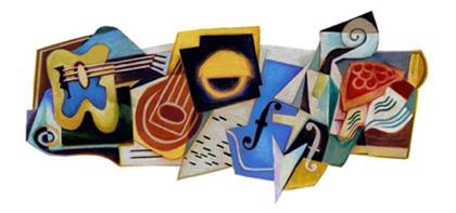 Googleロゴ「フアン グリス」に