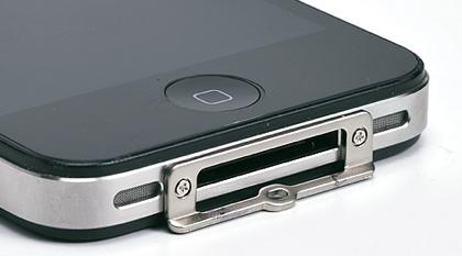 iPhoneにストラップを取り付けられるようにする金具セット(YK-IPP007)