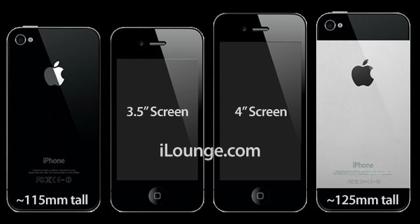 「iPhone 5」縦に1cm長く、2mm薄く、4インチ液晶に新しいDockコネクタ!?