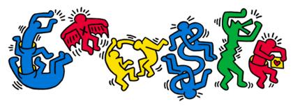 Googleロゴ「キース ヘリング」に