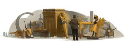 Googleロゴ「ハワード カーター」に