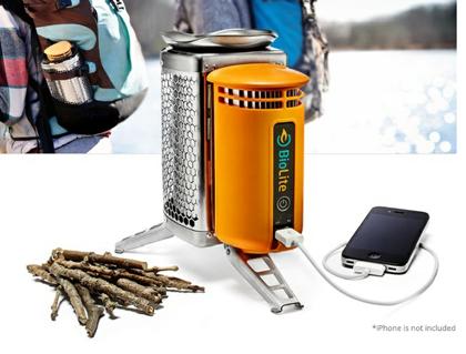 焚き火でiPhoneを充電する「BioLite CampStove」