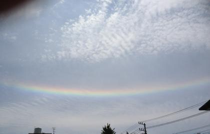 埼玉県南部で観測された「水平環(水平の虹)」の写真