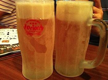 「やった〜家」キンキンに冷えた生オリオンビールが飲める居心地の良い沖縄料理