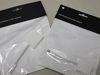「MacBook Pro」Mini DisplayPort用のDVIアダプタ/VGAアダプタを購入