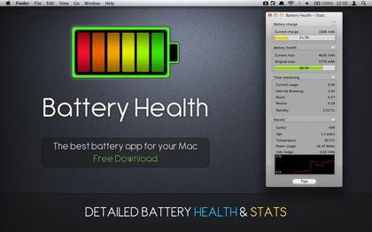「Battery Health」バッテリーの健康状態が分かるMac用ソフト