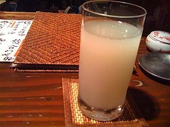 「和浦酒場」で日本酒のソーダ割(浦和)