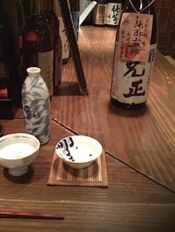 和浦酒場で「三光正宗 克正」(純米山田錦無濾過生原酒)