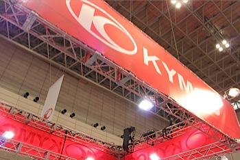 「KYMCO」で小型のスクーターを見る(東京MS)