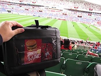 「とれるカメラバッグ」はスポーツ観戦にも最適だった #torecame