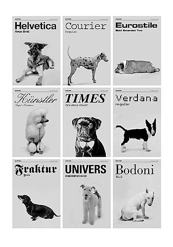 Typefaces as dog