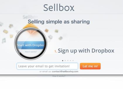 Dropboxに置いたファイルを販売できる「sellbox」