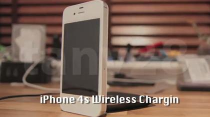 「iPhone 4S」にワイヤレス充電機能を内蔵させる動画