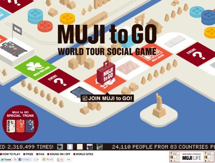 HTML5で構築された無印のスゴロク「MUJI to GO -WORLD TOUR SOCIAL GAME-」