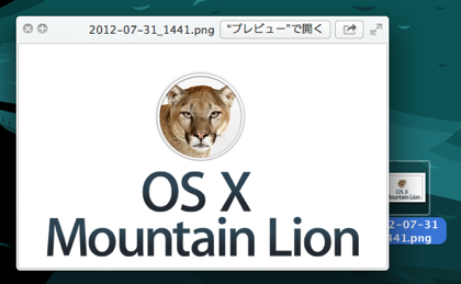 【OS X Mountain Lion】トラックバックを3本指タップでクイックルック