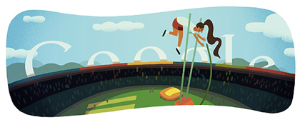 Googleロゴ「棒高跳び(London 2012 women's pole vault)」に