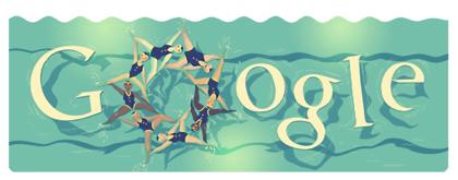Googleロゴ「シンクロナイズド スイミング(London 2012 synchronized swimming)」に