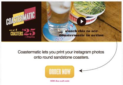 Instagramの写真からコースターを作る「Coastermatic」