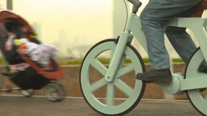 【動画】ボール紙で自転車を作ってしまうプロジェクト