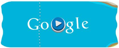 Googleロゴ「カヌースラローム(London 2012 slalom canoe)」に(カヌーで遊べる!)