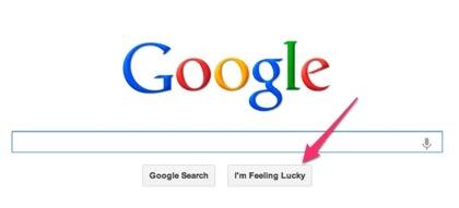 Google「I'm Feeling Lucky」のイースターエッグ