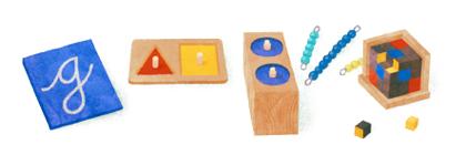 Googleロゴ「マリア モンテッソーリ」に